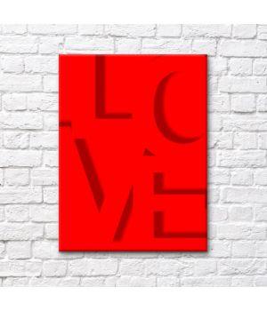 """Постер на холсте """"LOVE"""""""