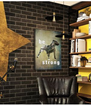 "Постер ""be strong"" 30x40 cm"