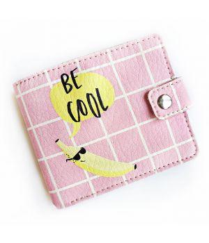 Прикольний гаманець з принтом Be cool
