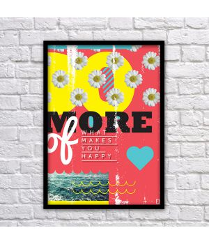 Прикольний інтер'єрний постер Do more, 42х59 см