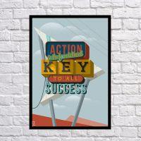 Прикольний інтер'єрний постер Ключ до успіху, 42х59 см