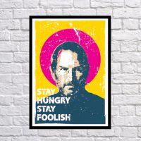 Прикольный интерьерный постер Оставайся голодным, оставайся безрассудным, 42х59 см