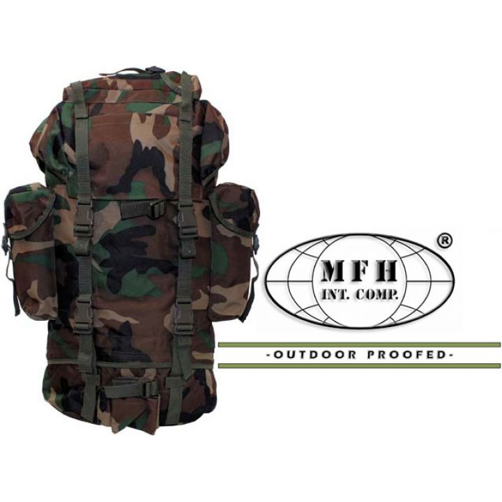 Рюкзак камуфляжний 65л лісовий камуфляж MFH 30253T