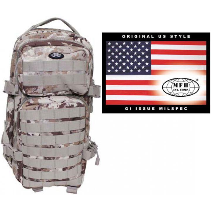 """Камуфляжный рюкзак 30л американского (США) типа MFH """"Assault I"""" итальянский пустынный камуфляж 30333M"""