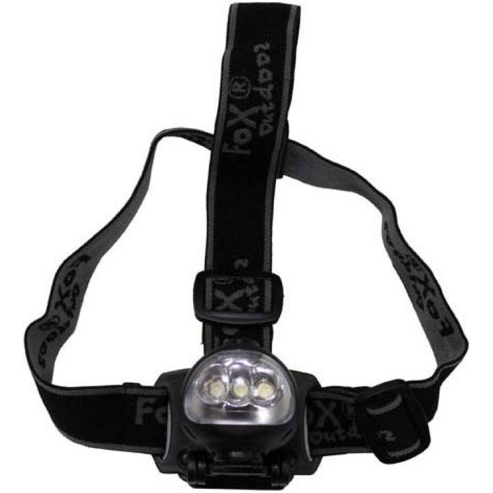 Налобный динамо-фонарь Fox Outdoor Stirnlampe dynamo 3 LED 26440