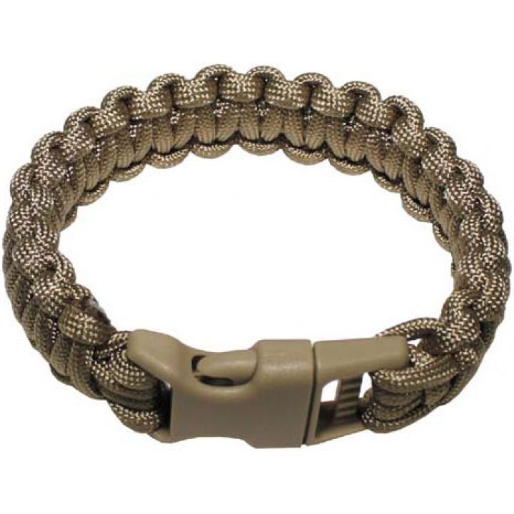 Браслет Паракорд MFH Paracord coyote tan (S) 28163R