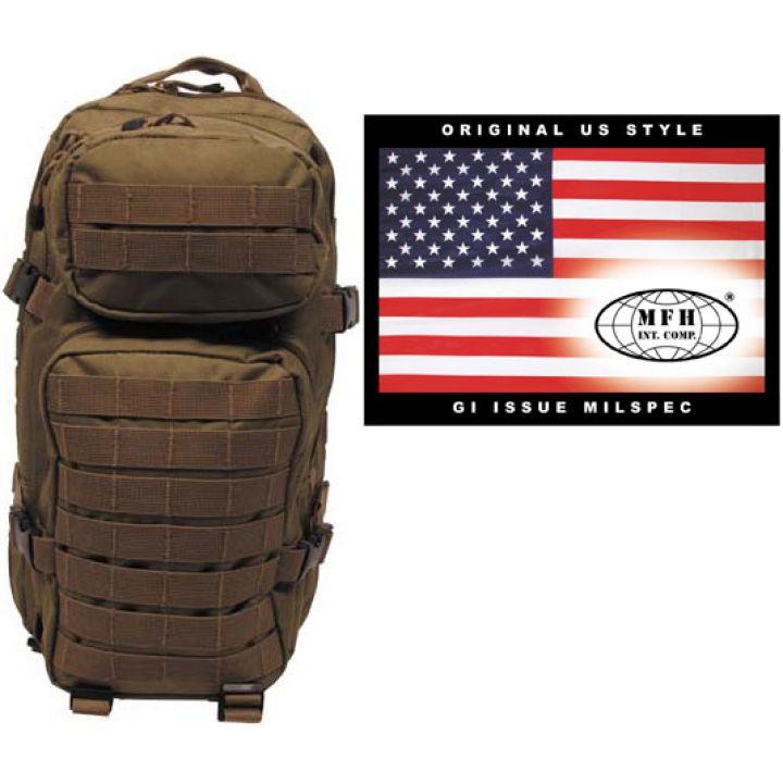 """Рюкзак камуфляжный 30л американского (США) типа MFH """"Assault I"""" койот 30333R"""