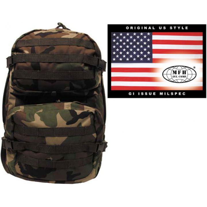 """Рюкзак камуфляжный 40л американского (США) типа MFH """"Assault II"""" лесной камуфляж 30343T"""