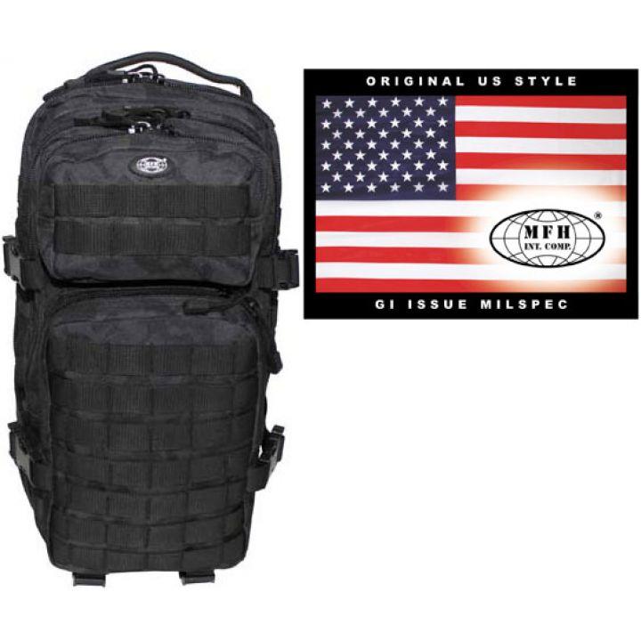 """Рюкзак камуфляжный 30л американского (США) типа MFH """"Assault I"""" ночной камуфляж 30333K"""