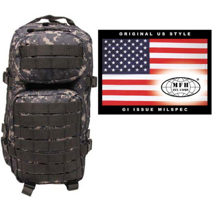 "Рюкзак камуфляжний 30л американського (США) типу MFH ""Assault I"" піксельний камуфляж 30333Q"