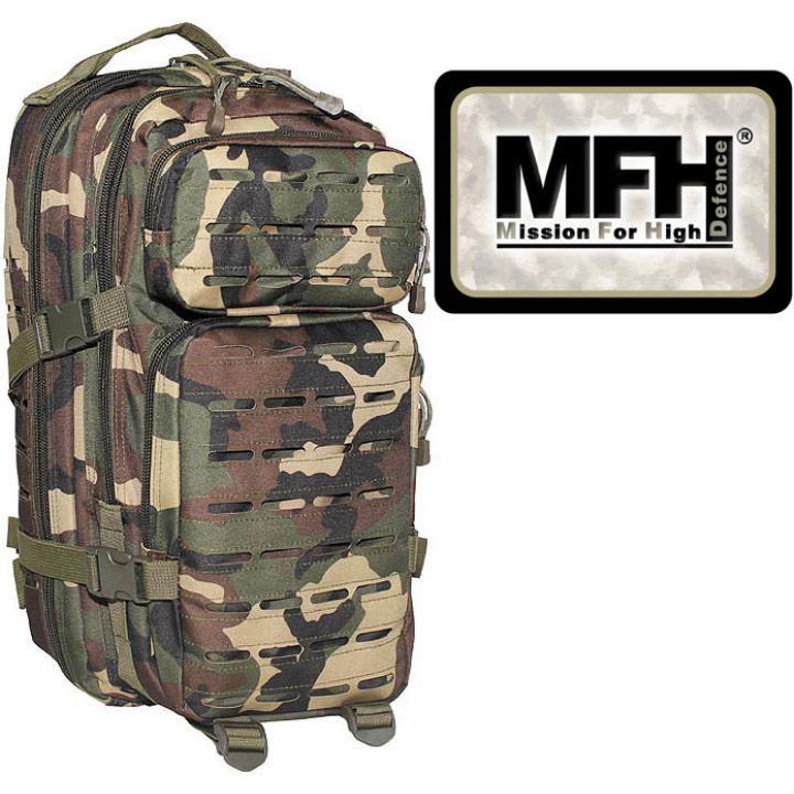 """Камуфляжний рюкзак 30л американського (США) типу MFH """"Assault I Laser"""" лісовий камуфляж 30335T"""