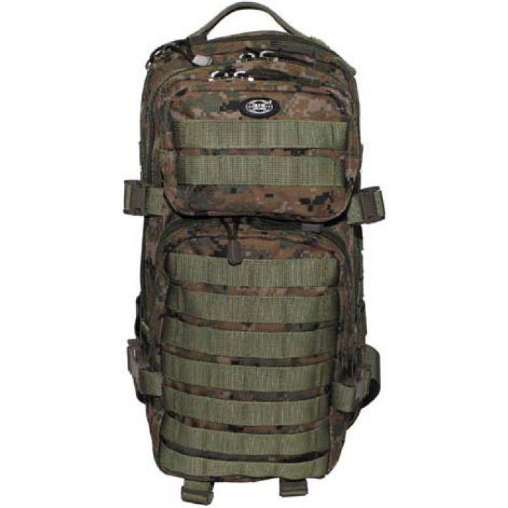 """Рюкзак камуфляжный 30л американского (США) типа MFH """"Assault I"""" цифровой лесной камуфляж 30333S"""