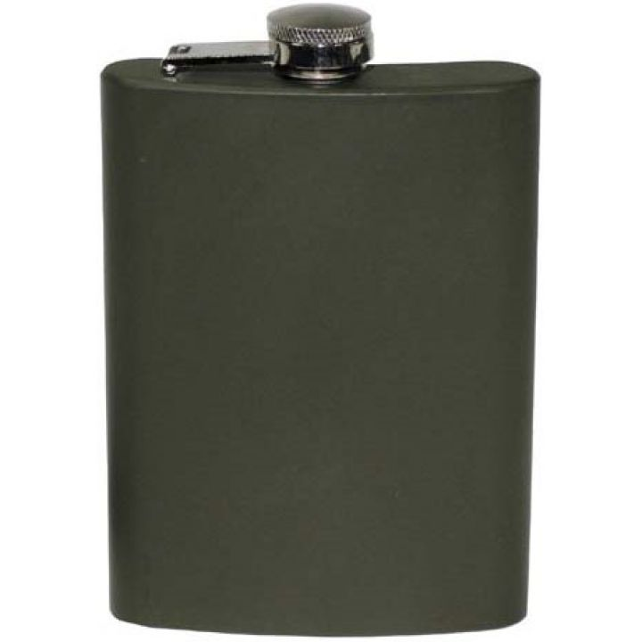 Фляга 225мл нержавіюча сталь, темно-зелена MFH 33275A