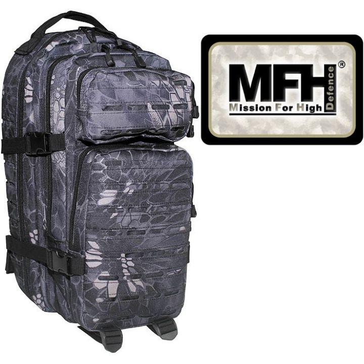 """Камуфляжный рюкзак 30л американского (США) типа MFH """"Assault I Laser"""" чёрная змея 30335N"""