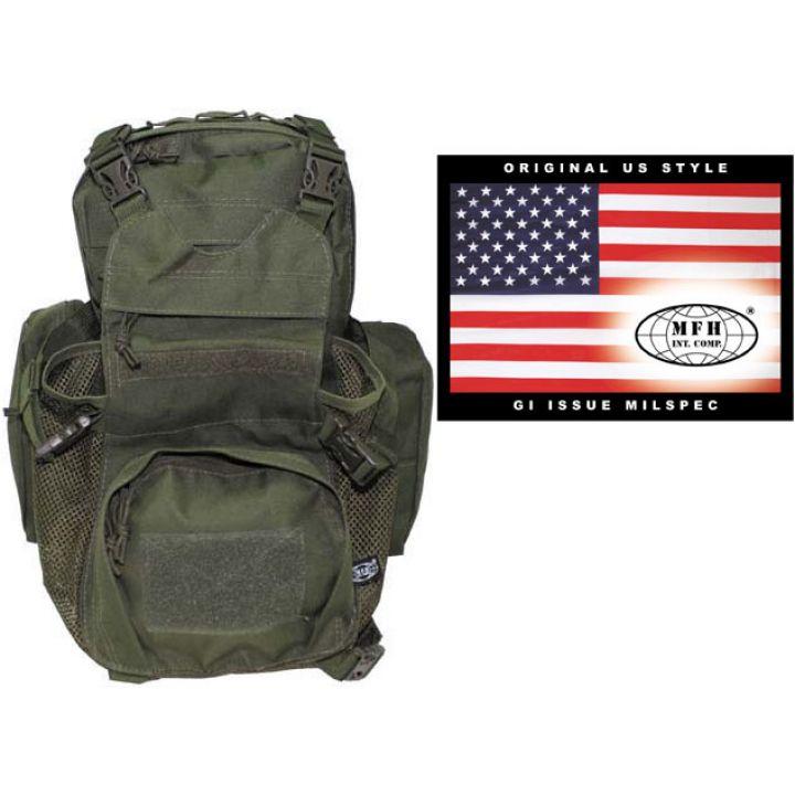 Камуфляжний рюкзак тактичний 12л MFH Molle темно-зелений 30363B