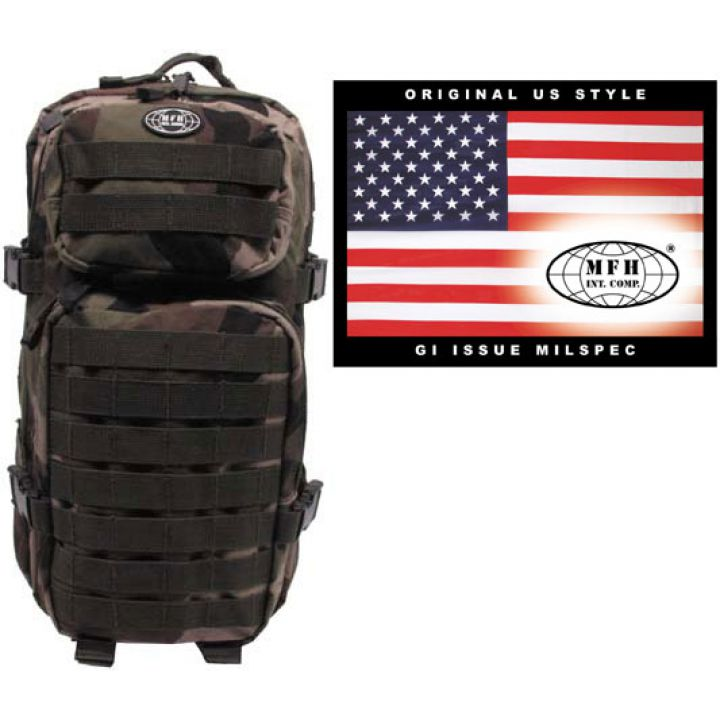 """Камуфляжный рюкзак 30л американского (США) типа MFH """"Assault I"""" CCE-камуфляж 30333I"""