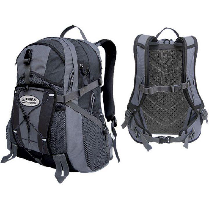 Рюкзак городской Terra Incognita Vector 26 чёрный/серый