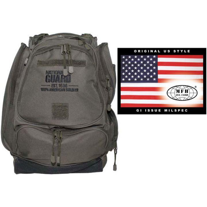 Рюкзак камуфляжный 40л MFH «Национальная гвардия (США)» тёмно-зелёный 30353B
