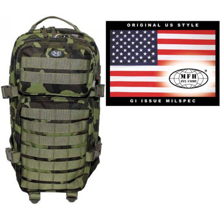 """Камуфляжний рюкзак 30л американського (США) типу MFH """"Assault I"""" M95 чеський камуфляж 30333J"""