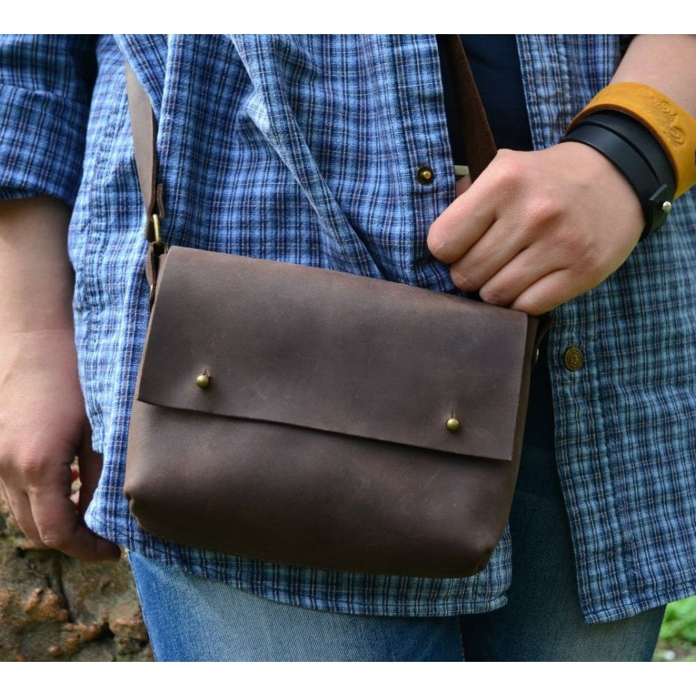 4222ba6496fd Кожаная Сумка Kolibri Brown - Купить кожаные сумки украинского ...