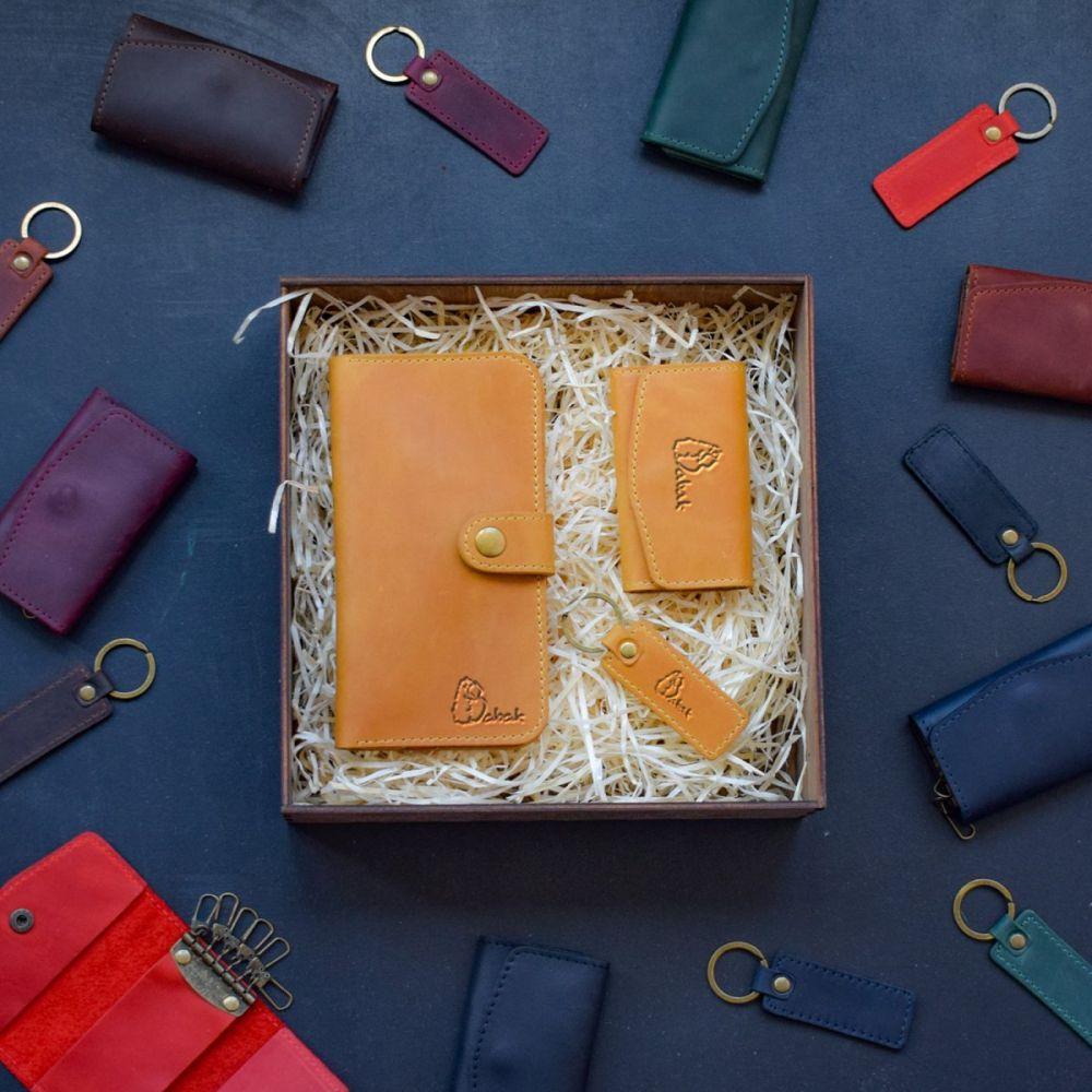 8472eedbe33c Набор кожаных аксессуаров Milano Beige - Купить женские подарочные ...