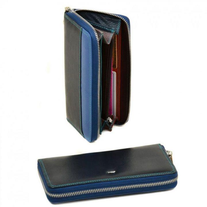 Женский кожаный кошелек Rainbow WRS-2 blue, 76450