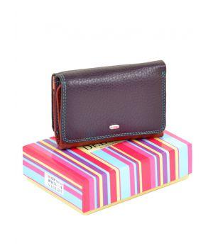Женский кошелек на кнопке Rainbow WRS-4 violet, 76440