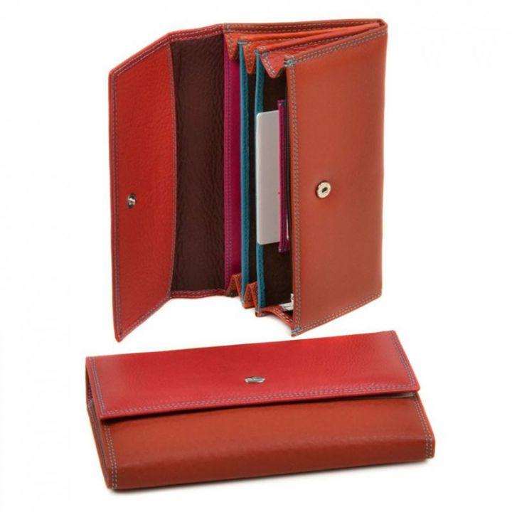 Женский кошелек из натур. кожи Rainbow WRS-1 red, 76451