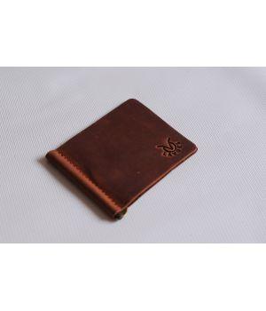 Чоловічий шкіряний зажим для грошей, купюр, банкнот, 76731