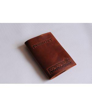 Дизайнерская кожаная обложка на паспорт, 77185
