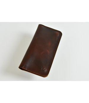 Кожаный мужской кошелек бумажник ручной работы, 76506