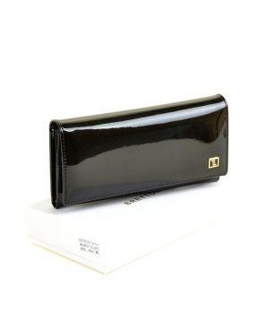 Женский лаковый кошелек Gold W0807 black, 76448