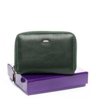 Женский кожаный кошелек BOND WS-2 green, 76418