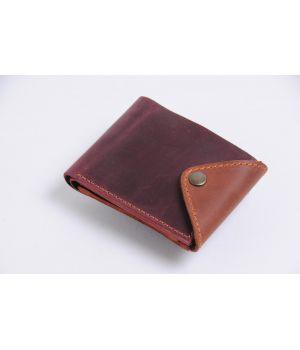 Кожаный мужской кошелек бумажник ручной работы, 76708
