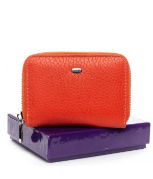 Женский кожаный кошелек BOND WS-2 orange, 76419