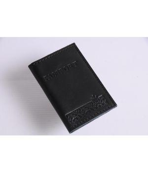 Шкіряна обкладинка для ID паспорта ручної роботи, 77149