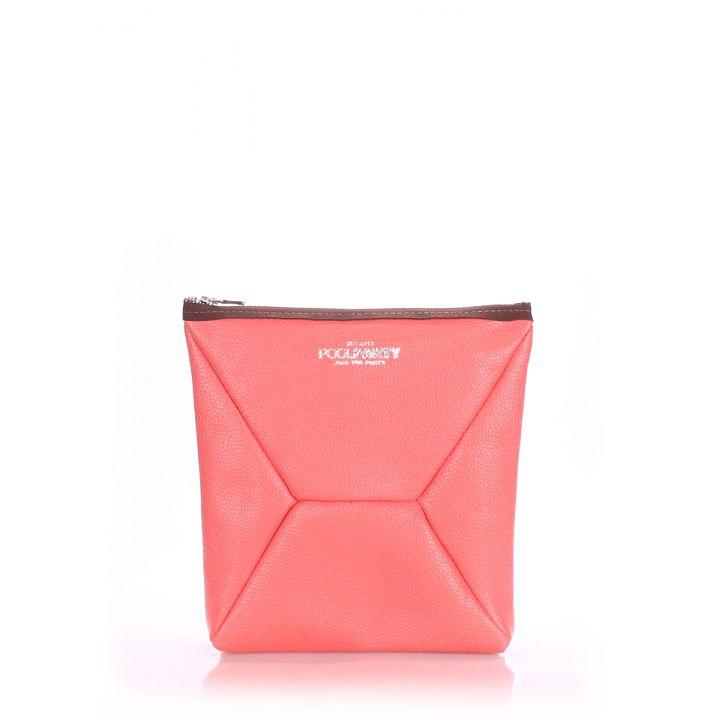 Розовая дорожная косметичка-клатч женская POOLPARTY THE X