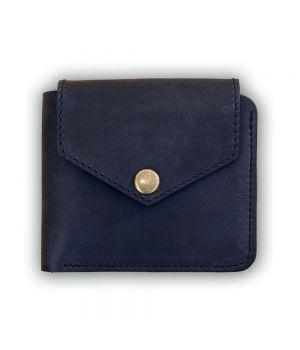Чоловіче шкіряне портмоне 4.2 (4 кишені, кнопка) Нічне небо