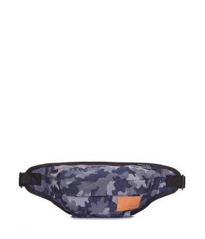 Джинсовая камуфляжная сумка на пояс Bumbag, 62044
