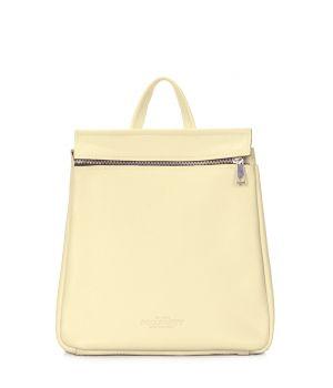 Шкіряний жовтий рюкзак POOLPARTY Venice, 61956