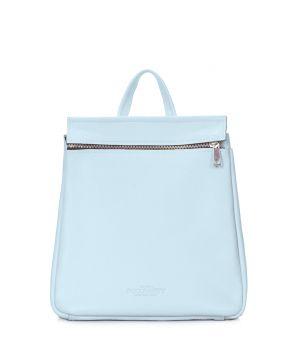 Шкіряний блакитний рюкзак POOLPARTY Venice, 61957