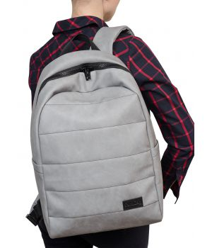 Женский рюкзак Zard LRT светло-серый нубук