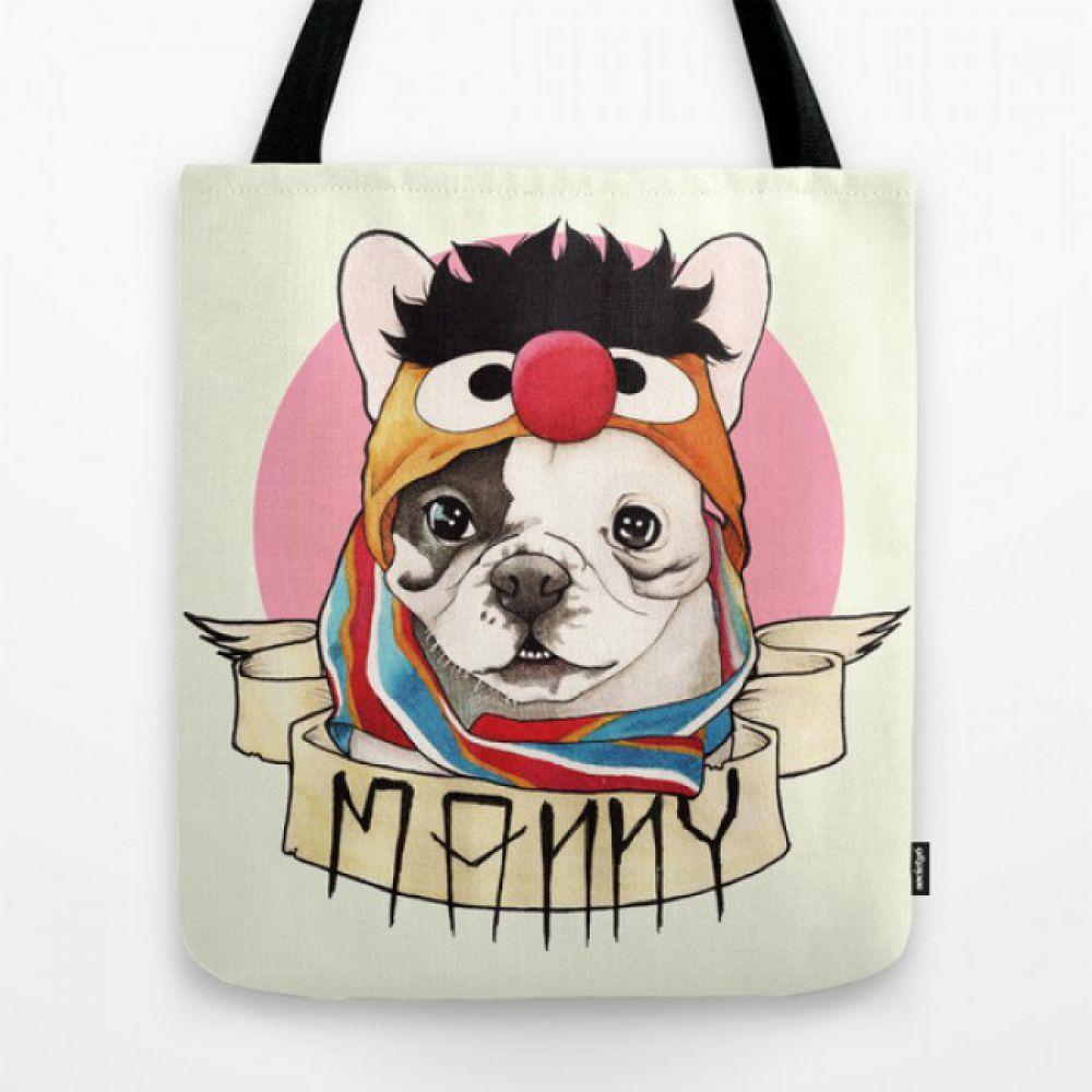 3753f0b34a2f Прикольная сумка french bulldog - Manny - Купить тканевые сумки с ...