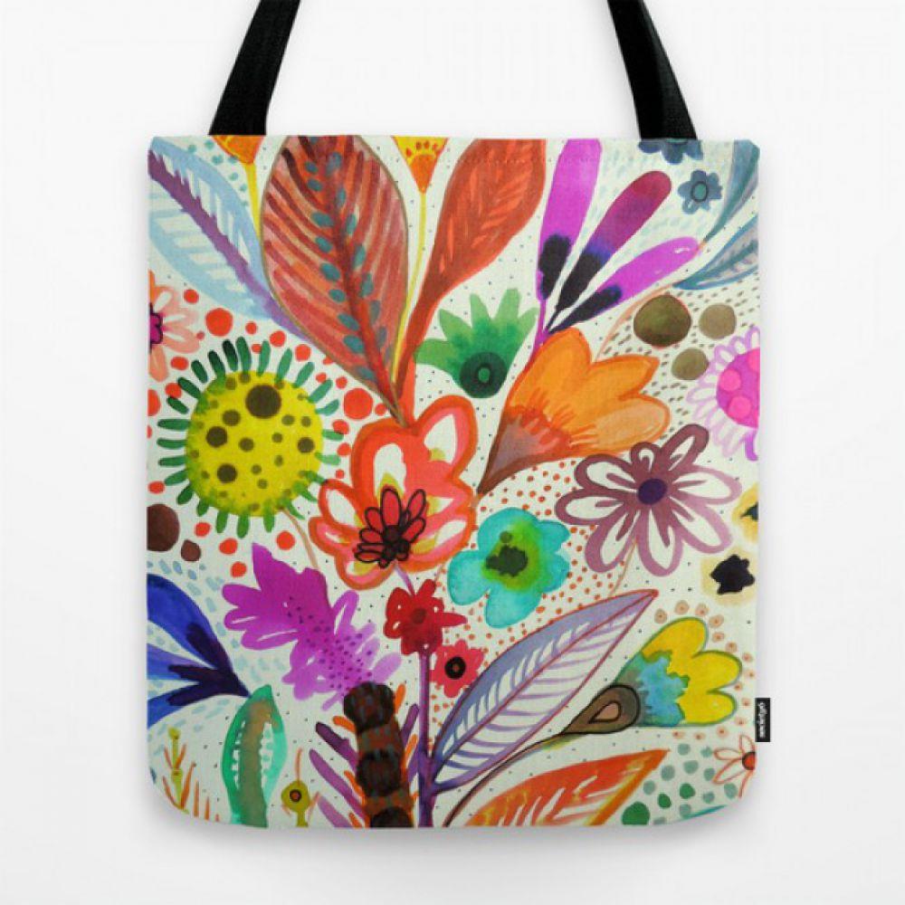 14930af09197 Тканевая сумка с рисунком éclosion - Купить тканевые сумки с ...