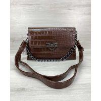 Женская сумка клатч Келли коричневая, 73720