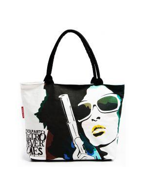 Текстильна сумка POOLPARTY з трендовим принтом, 5521