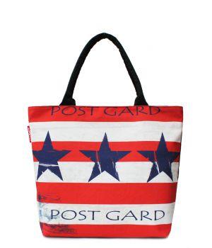 Текстильная сумка POOLPARTY с трендовым принтом