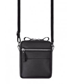 Сумка через плечо Mini metal zip, черная, 73930