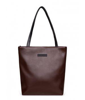 Сумка шоппер Elisse, экокожа коричневая, 73900