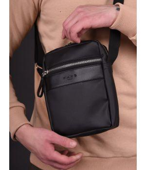 Сумка через плечо Mini metal zip, black, 73931